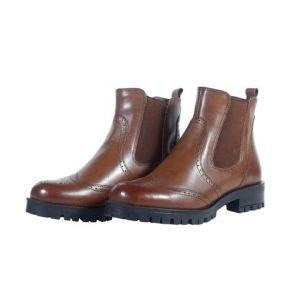 Brown Leather Boot For Women-006007