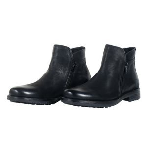 Black Leather Boot For Men-219W1133