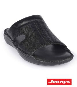 Men's Black Leather Sandal - 9904101