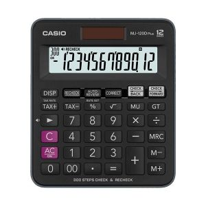 Casio MJ-120D Plus-BK Check & Recheck Mini Desk Type Desktop Calculator #CB149