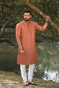 MEN'S COTTON PANJABI - PNJ-EA-LG-165