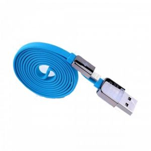 USB Male to Lightning, Blue Data Cable