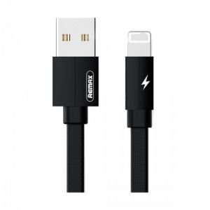 USB Male to Lightning, Black Data Cable (1 Meter)