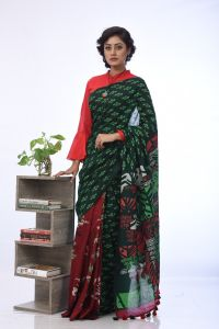 WOMEN'S COTTON SAREE - SARI-CT-HT-567