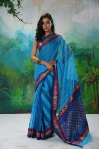 WOMEN'S HALF SILK SAREE - SARI-HSL-MR-185