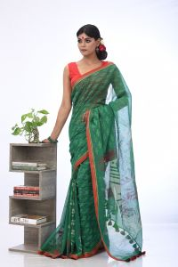 WOMEN'S COTTON SAREE - SARI-HSL-MT-241